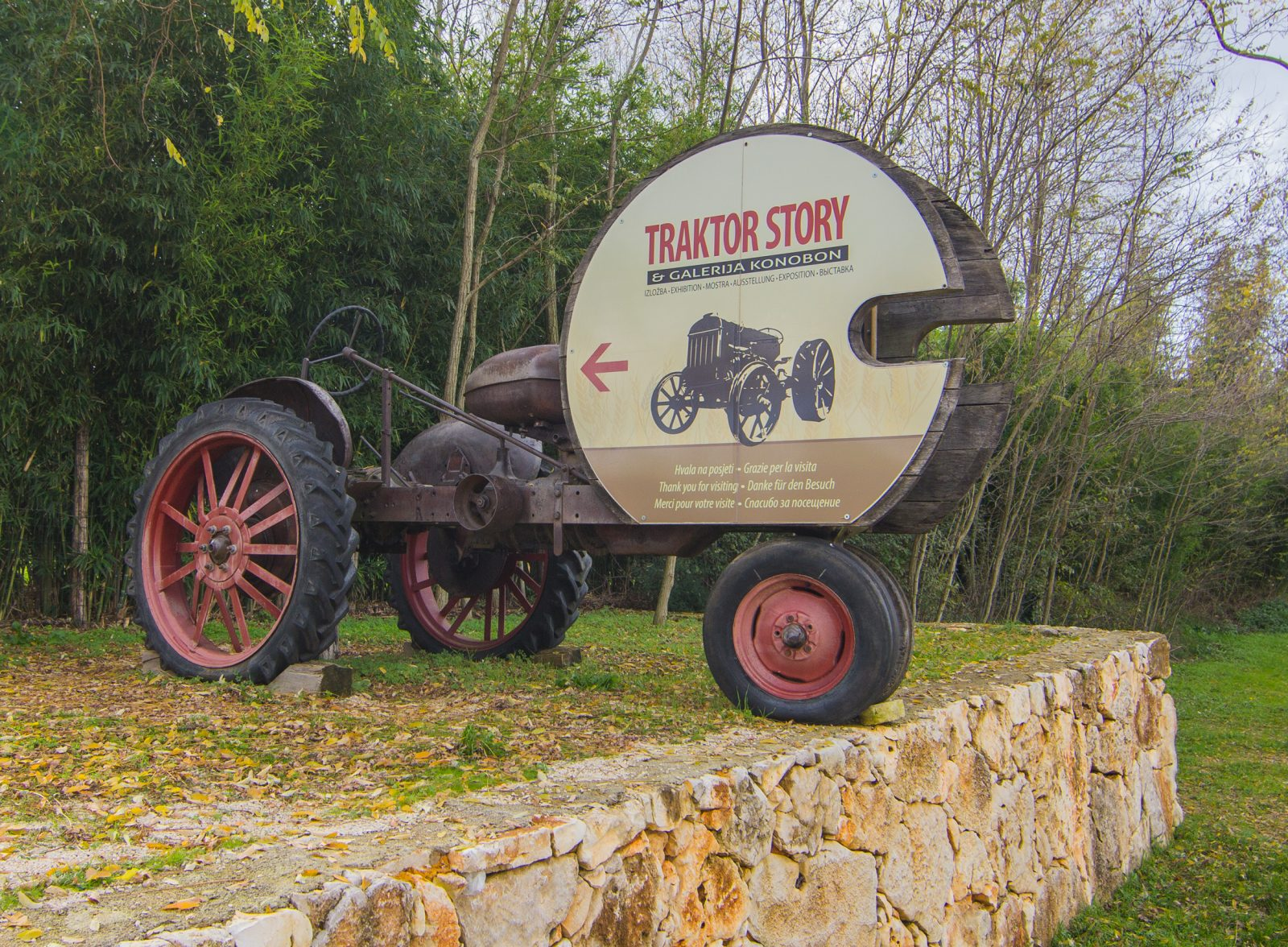 TRACTOR STORY BESIDE THE HOUSE WITH TRADITIONAL TOOLS IN NOVA VAS NEAR POREČ